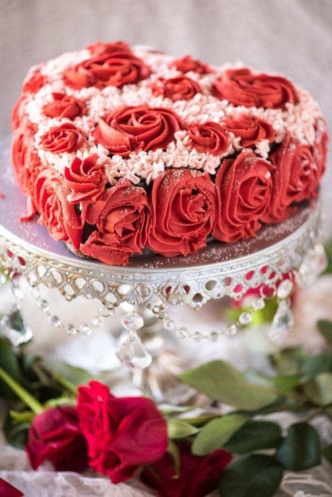 Easy Valentines Day Cake Decorating Tutorial Go Go Go Gourmet