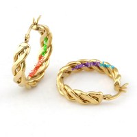 Particular Design of Fashion Jewelry of Golden Rope Circle ...