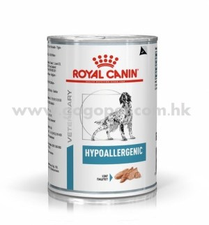 Royal Canin - Hypoallergenic 犬隻低敏處方濕糧 400g 行貨