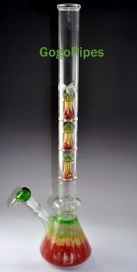 Quad Perc Mushroom Glass Water Pipes by GogoPipes.com