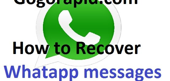 How to recover whatapp messages