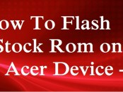 Flash Stock Rom on Acer