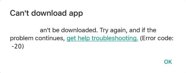 Can't Download apps On Lenovo phone