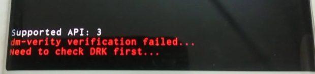 DM-VERITY VERIFICATION FAILED