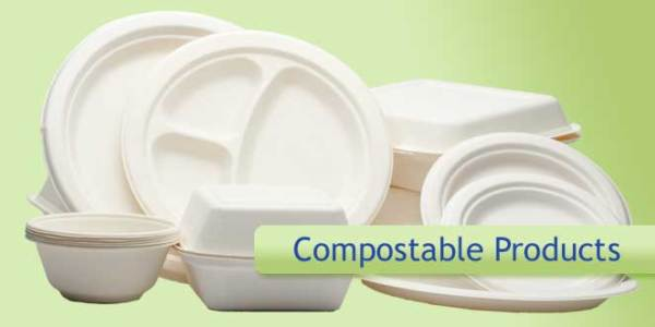 Ecofriendly Compostable Tableware and Takeout Products