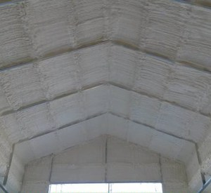 Go Green Spray Foam applied to ceiling
