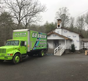 Go Green Spray Foam Truck by church