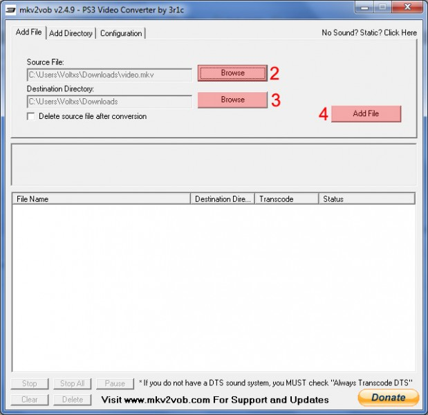 mkv2vob add file tutoriel