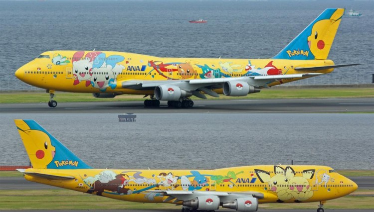 avion pikachu japon