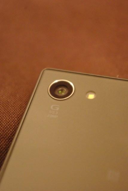 Objectif & flash du Z5 compact