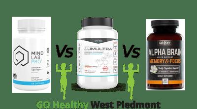 Mind Lab Pro vs Lumultra vs Alpha Brain Go Healthy West Piedmont Review
