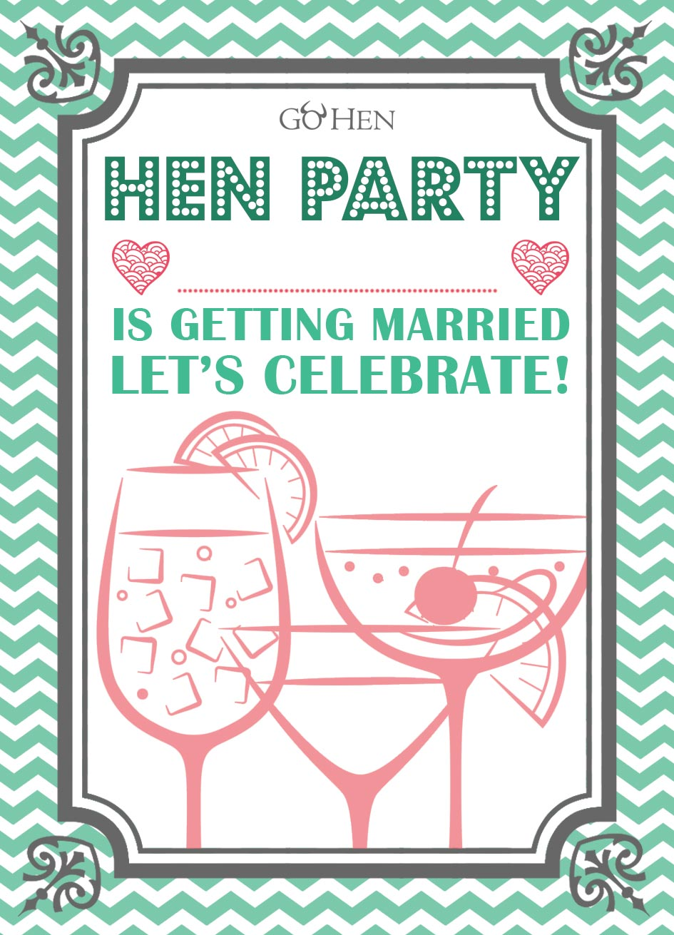 hen party invitations funky