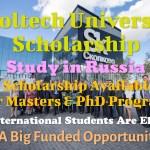 Skoltech University Scholarship