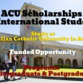 ACU Scholarships for International Students