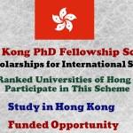 Hong Kong PhD Fellowship Scheme