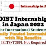 OIST Internship in Japan 2022