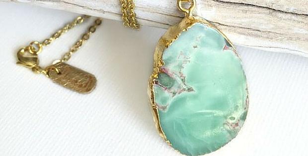 Lovely Lilypad Jade Necklace