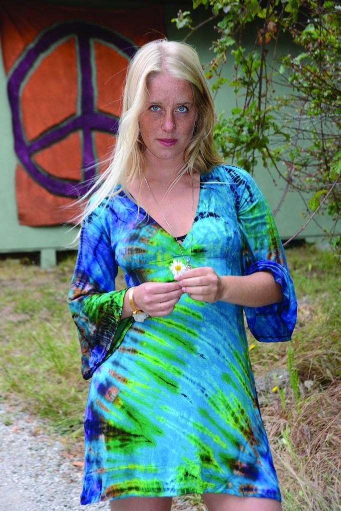 tie dye hippie dress