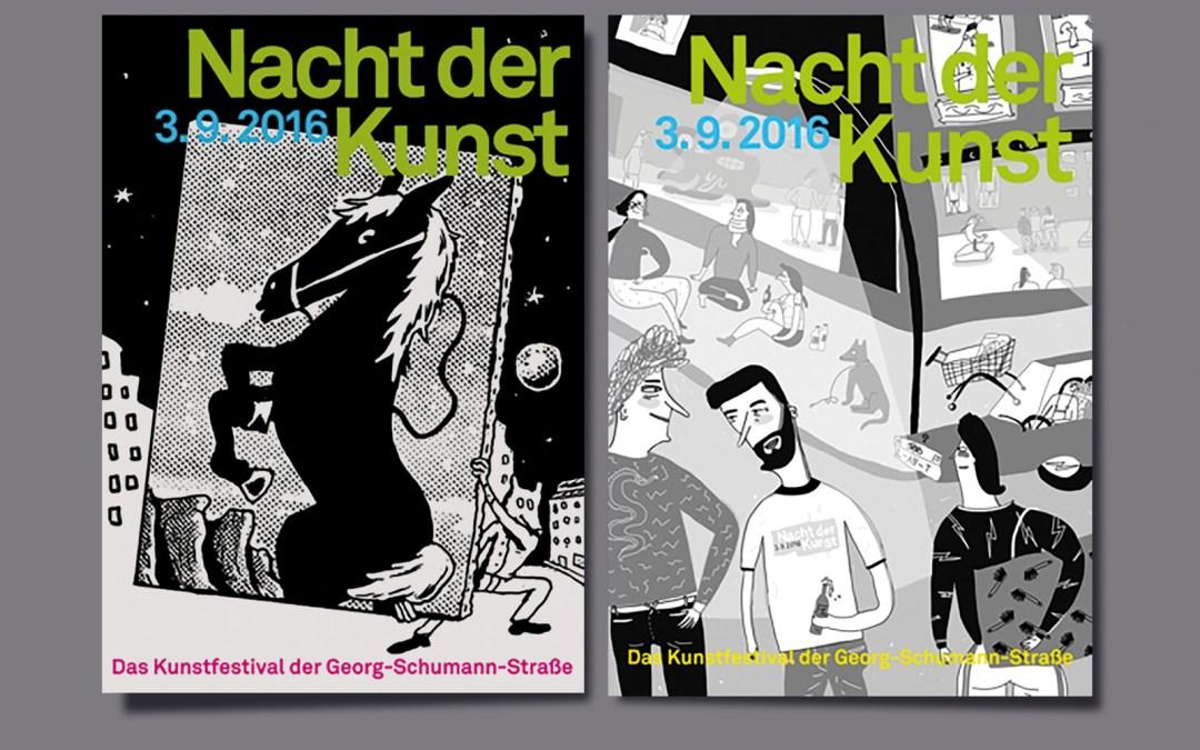 7. Nacht der Kunst, Georg-Schumann-Straße Leipzig