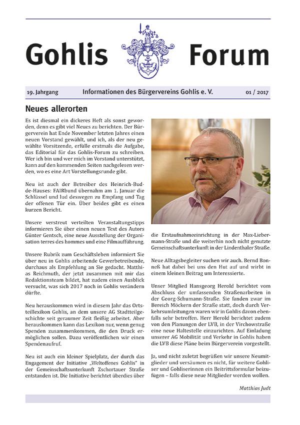 Gohlis Forum 1/2017