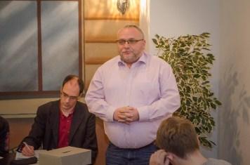 Der neu gewählte Vorsitzende Matthias Judt stellt sich vor; Foto: Andreas Reichelt