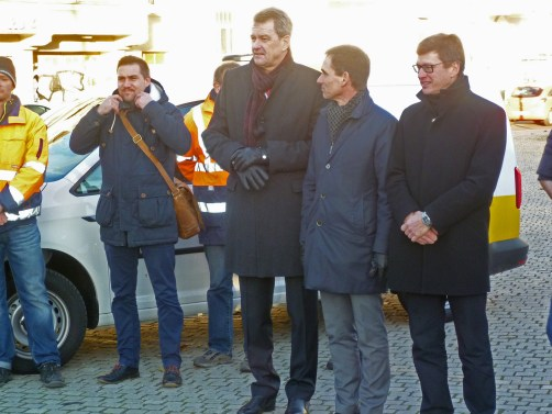 Vorfristige Verkehrsfreigabe in der Georg-Schumann-Straße