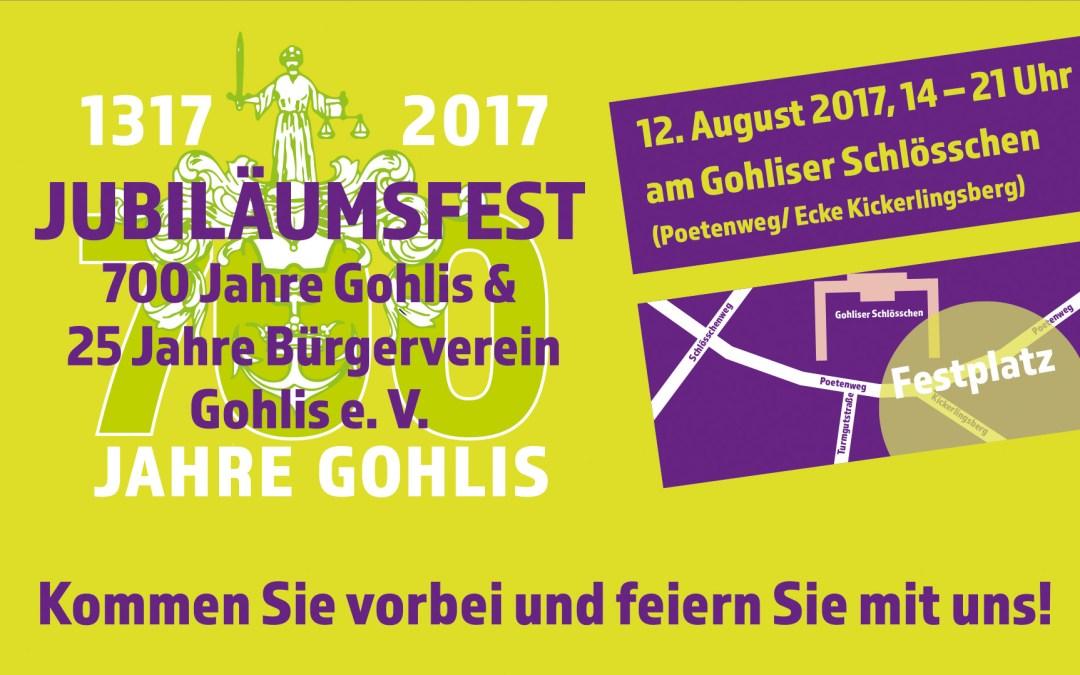 Straßenfest – 700 Jahre Gohlis & 25 Jahre Bürgerverein Gohlis