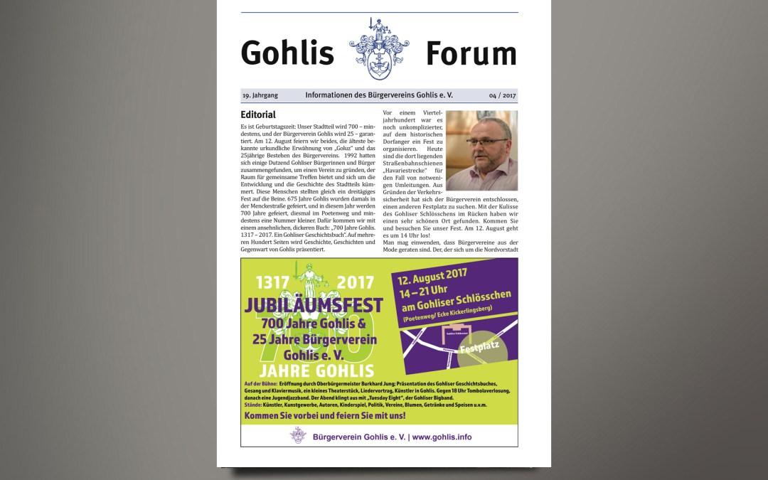 Gohlis Forum 4/2017 erschienen