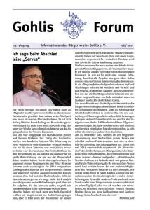 Gohlis Forum 06 2017 Titel reichelt