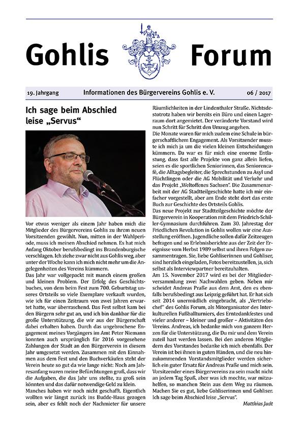 Gohlis Forum 06/2017