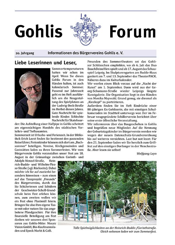 Gohlis Forum 04/2018