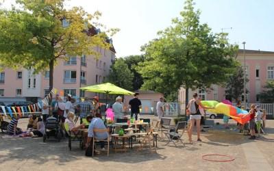 Sommerliches Nachbarschaftspicknick in Gohlis
