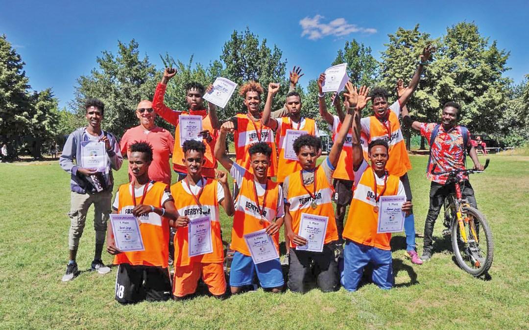 So sehen Sieger aus – Somalia Jungs; Foto: Uwe Schröder