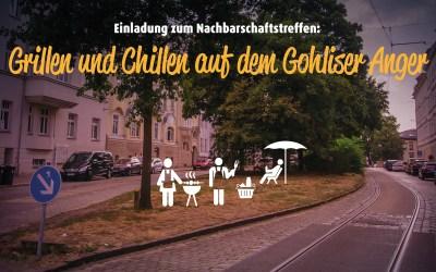 Grillen und Chillen auf dem Anger in der Menckestraße