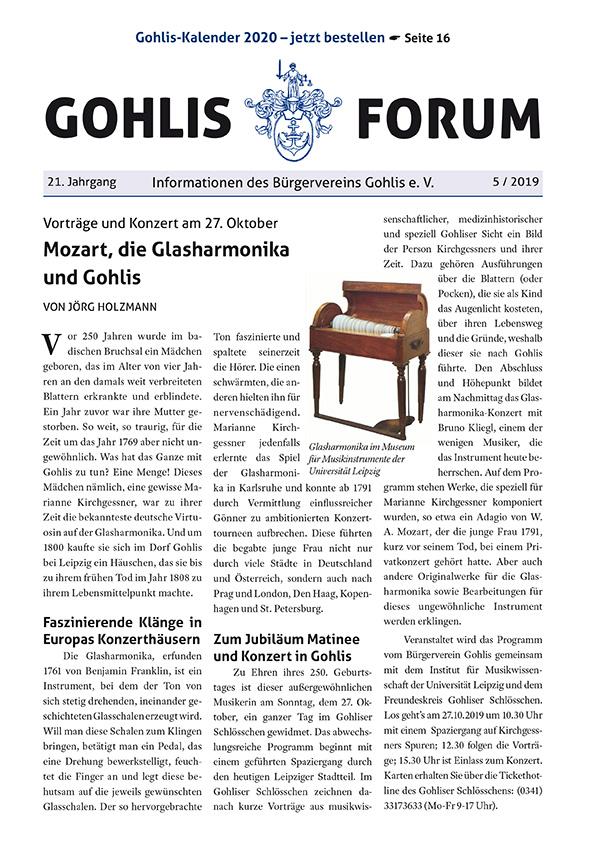 Gohlis Forum 05/2019