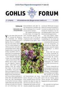 Gohlis Forum 02/2021; Layout: Reichelt Kommunikationsberatung