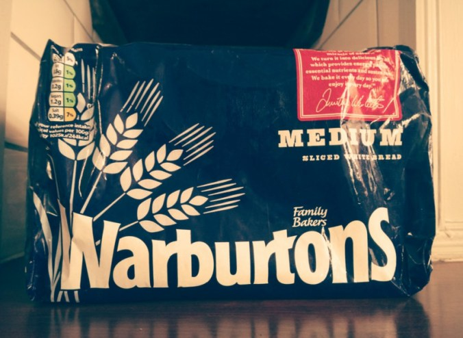 Warburtons bread in waxed paper