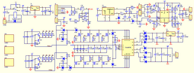 Ab On Vfd Wiring Diagram Homemade 2000w Power Inverter With Circuit Diagrams Gohz Com