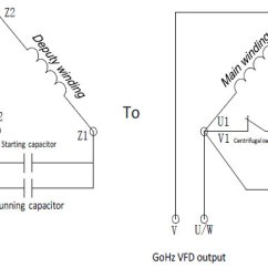 Single Phase Motor Wiring Diagram With Capacitor Start Run For Alternator On Tractor 2 Hp 1 5 Kw Output Vfd Gohz Com Without Disassembling Capacitors
