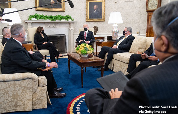 IP Martinez Meets with President Biden, Vice President Harris to Advocate for Good Jobs, Relief for IAM Members