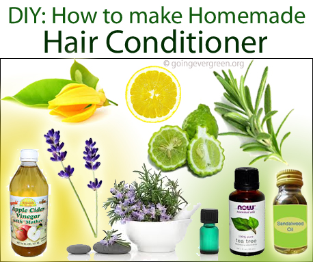 DIY: How to Make Natural Homemade Hair Conditioner - Going ...