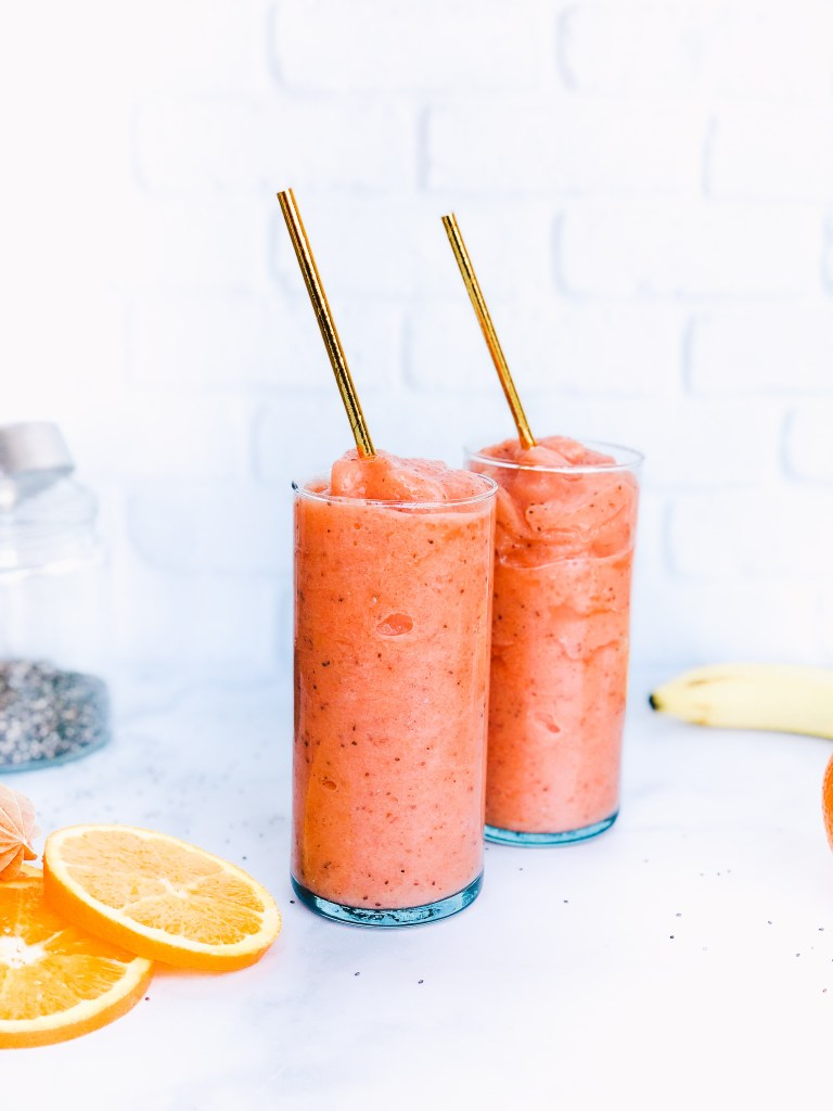 Blood Orange Chia Seed Smoothie