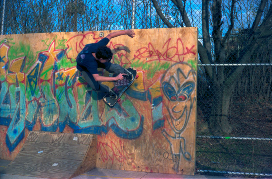 Jeff B. doing a wall ride at the old Lutherville.