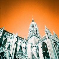 LomoChrome Turquoise & the Bayeux Cathedral