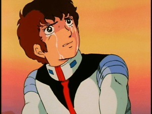 Amuro Crying. This happens a lot