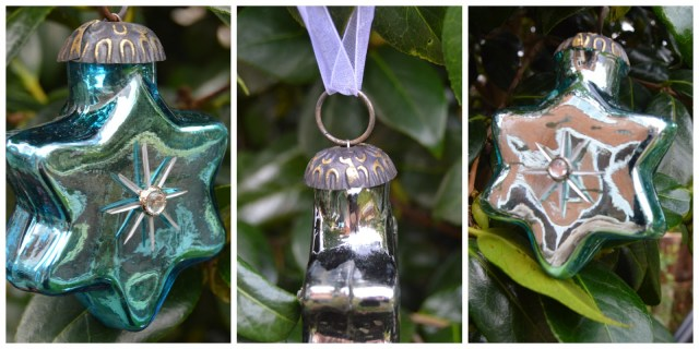 The Christmas Boutique - blue glass star baubles