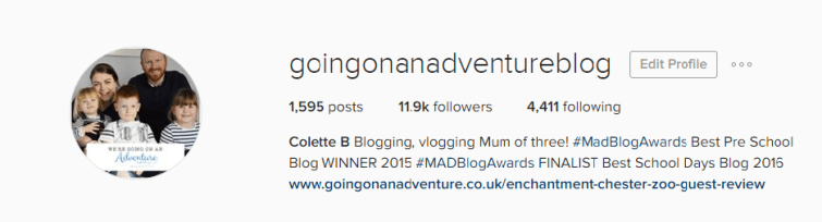 @goingonanadventureblog instagram followers