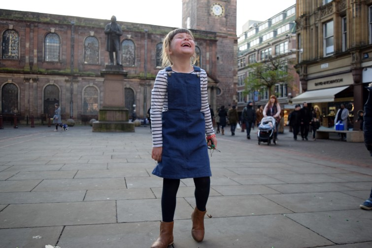 Blue Denim Pinafore Dress from Milk & Biscuits (4)