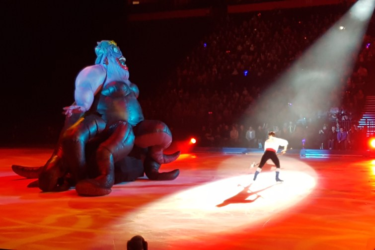 Enormous inflatable Ursula at Disney on Ice