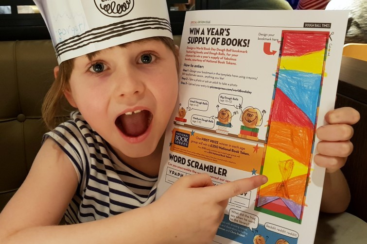 Win a year's supply of books with PizzaExpress and World Book Day